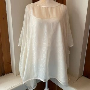 NWT Victor Costa Occasion 2pc Sparkly White Blouse